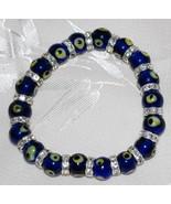 Dark Blue Evil Eye Bead Bracelet - $12.95