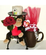 Ceramic Mug Candle Holder Plush Silk Flower Gif... - $18.00