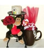 Ceramic Mug Candle Holder Plush Silk Flower Gift Set 29 - $18.00