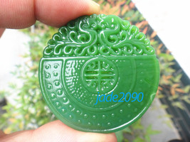 Free Shipping - natural green jade jadeite Good luck Hand- carved AAA Natural gr - $19.99