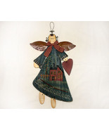 Wooden Country Angel with Metal Accents - $12.95
