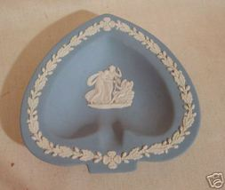 Wedgwood Blue Jasper Heart Shape Neo Classical Plate - $10.00