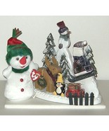 TY Snowgirl NWT and Wood Snowmen Winter Christmas Scene 41 - $13.00