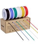18awg Electronic Wire Kit Flexible Silicone Wire 6 Color 18 Gauge Hook U... - $22.30