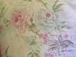 Hillcrest Shabby Floral Sateen Full/Queen Duvet... - $55.00