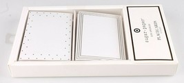 Sugar Paper Los Angeles 12 Count White Tent Gold Dinner Place Cards Placecards image 2