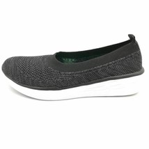 Ryka Womens Nell Slip On Walking Sneakers Shoes Black Low Top Fabric 11 M New - $49.49