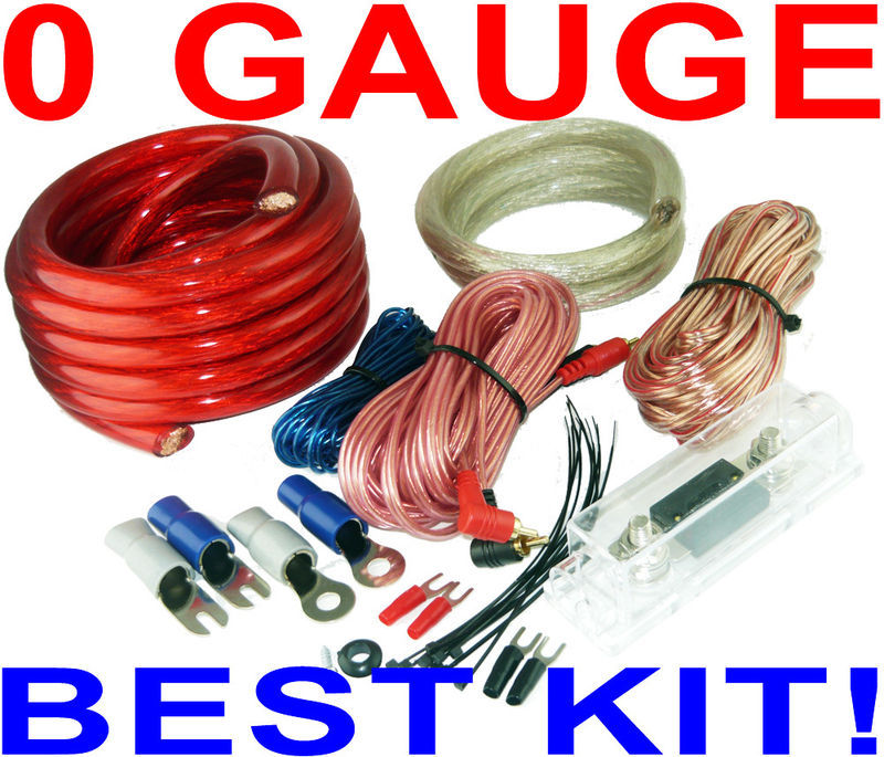 17' 0 Gauge RCA Wire Amp Wiring Fuse Amps Install Kit