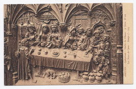 C1910 - The Wedding at Cana, Cathedral Stalls, Amiens, France - Unused image 1