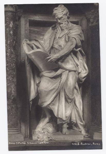 C1910 - Architecture of St. Matthew, Rome, Italy - Real Photo - Unused