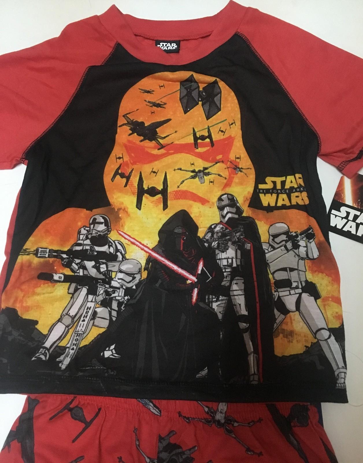 Star Wars Pajama Short & Shirt Set Kid's Sz M (9/10) The Force Awakens