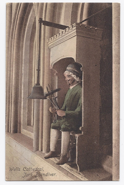 c1910 - Wells Cathedral  - Jack Blandiver - Wells, England - Unused