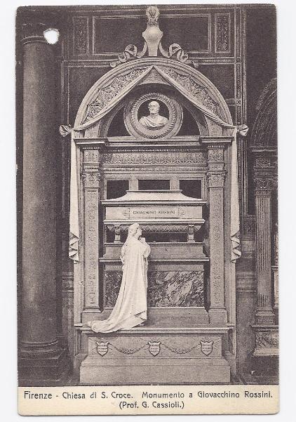 c1910 - Monument to Joachim Rossini, St Cross Church, Florence, Italy - Unused