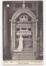 c1910 - Monument to Joachim Rossini, St Cross Church, Florence, Italy - Unused image 1