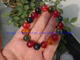 Free Shipping - Natural Colorful Crystal bracelet Prayer Beads charm bea... - $25.99