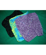 Hand Crafted Crocheted Dish Clothes Variety Color Set of 3  - $8.50