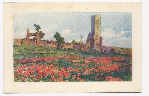 c1910 - The Roman Countryside - Hand Colored - Unused