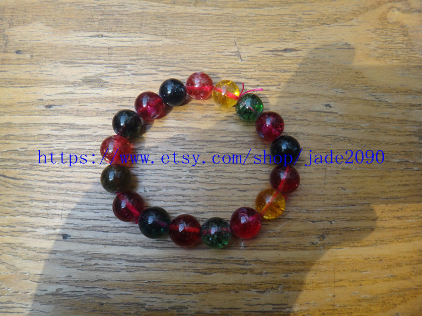 Free Shipping - Natural Colorful Crystal bracelet Prayer Beads charm beaded rosa