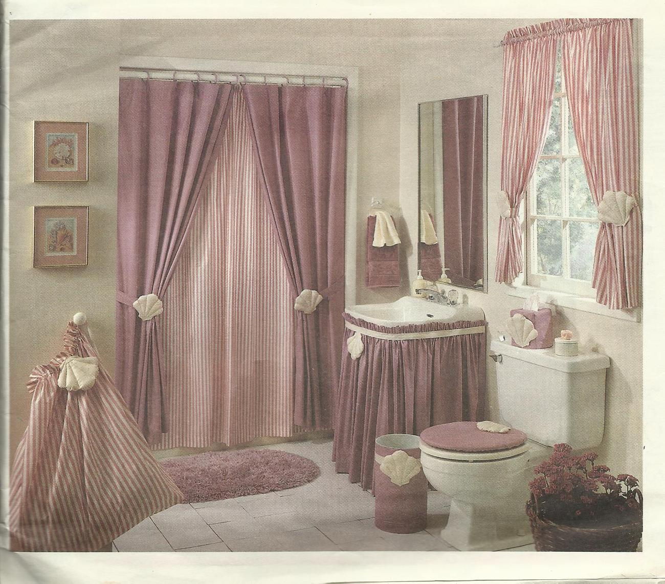 McCall's 4276 Pattern Bathroom Accessories shower  window curtain lid cover