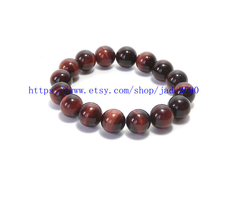 Free Shipping -  rosary beaded bracelet Natural Red tiger eye STONE Prayer Beads