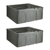 MRT SUPPLY 5 Person Outdoor Patio Hot Tub Spa w/ 28 Jets & Cover, Taupe ... - $11,523.78