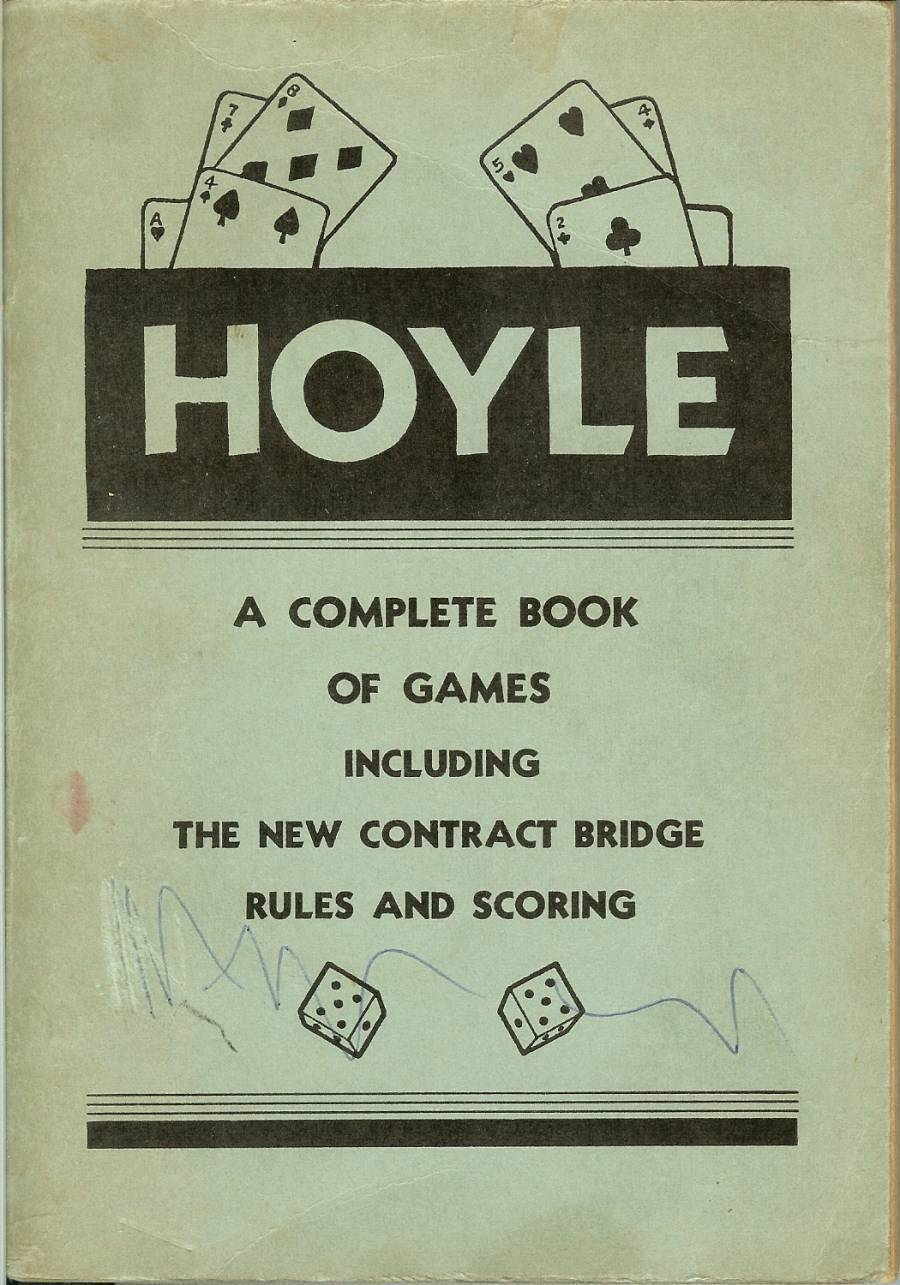 hoyle a complete book of games including the new conract bridge rules and scorin