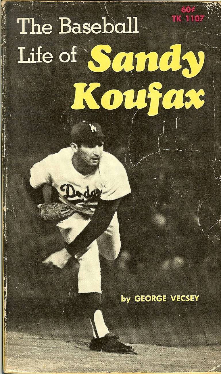 the baseball life of sandy koufax by george vecsey 1st edition