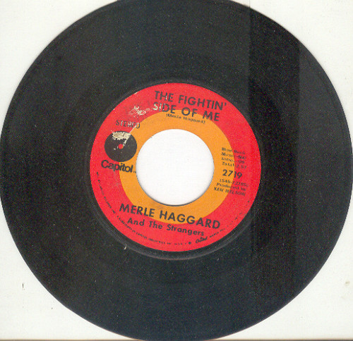 Merle Haggard 45 rpm Fightin Side of Me