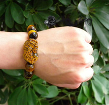Free Shipping -  Handcrafted Grade AAA Natural Tiger eye stone '' PI YAO '' char - $25.99