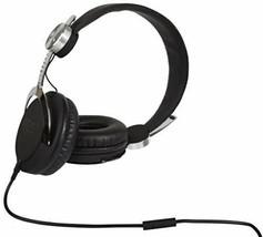 New WeSC Bass DJ Unisex Headphones with Microphone - Black/Silver One Size NIB