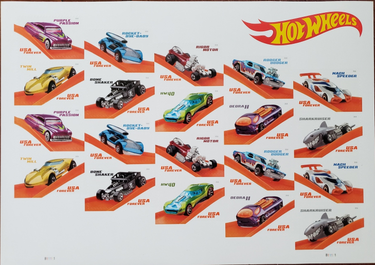 Hot Wheels 50th Anniversary 1st Class (USPS)  FOREVER Stamps 20