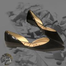 Sam Edelman Womens Black Pointed Toe Slip On Flats Rodney D'Orsay Shoes Sz 7.5 M - $60.00