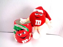 Red m&m Christmas character Coffee Tea cup Barrel Mug Collector & Small ... - $12.86