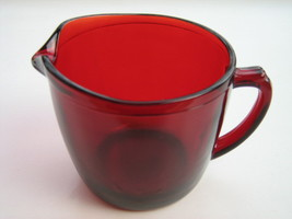 Vintage Anchor Hocking Royal Ruby 4000 Line Sugar Bowl & Creamer - 1950s image 3