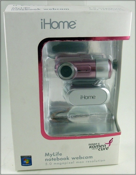 Brand New iHome® MyLife Notebook Webcam PINK IH-W312NP