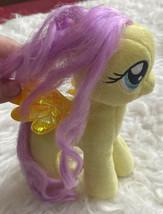 "Ty Fluttershy Beanie Baby 6"" My Little Pony Yellow plush sparkle glitter... - $9.89"