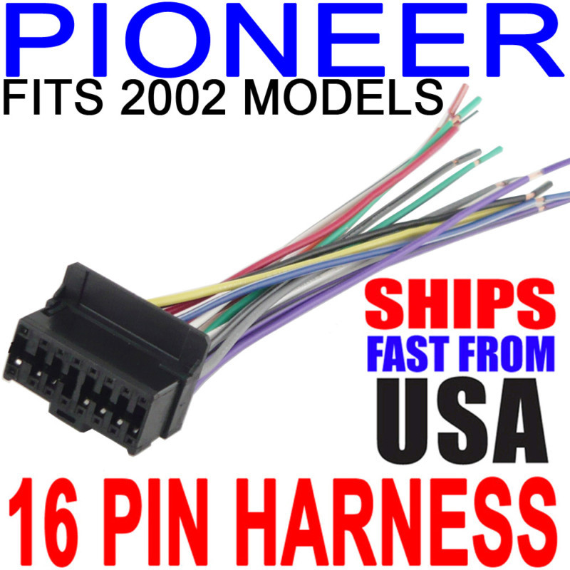 Pioneer Wiring Wire Radio Stereo Harness 2002 16PIN