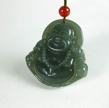 Free Shipping - Amulet auspicious perfect AAA Natural  Green jadeite jade carved - $19.99