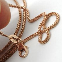 18K ROSE GOLD CHAIN 1.2 MM SQUARE FRANCO LINK, 17.7 INCHES, 45 CM MADE IN ITALY  image 4