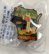 NEW Wisconsin Lions Club Stream Trout Fishing in the Forest 1990 Lions C... - $7.66