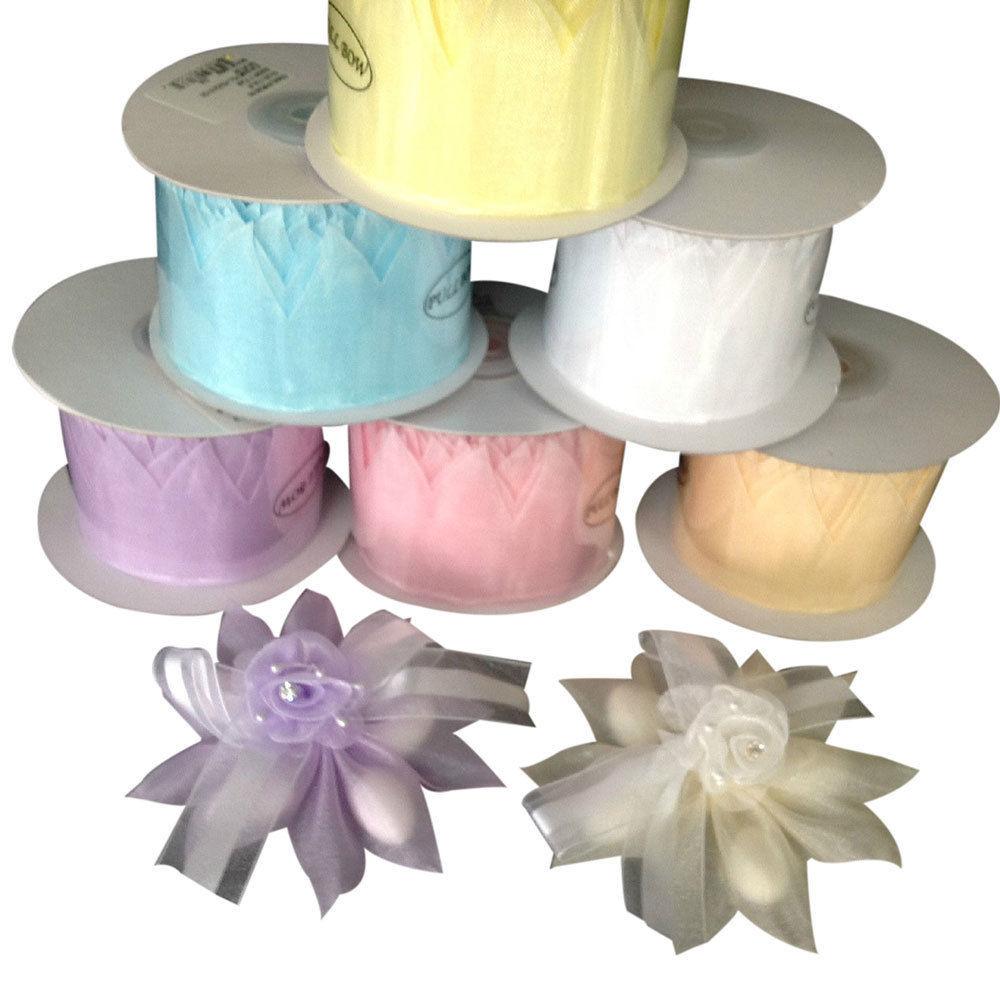 IVORY Star PULL JORDAN ALMONDS CANDY BOW Ribbon decorations wedding favors -