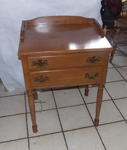 Solid Maple End Table / Entry Table / Server with 2 Drawers by Ethan All... - $399.00