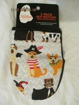 Trick or Treat Dog Kitchen Mini Oven Mitts 2 pk Halloween Fun - $16.99