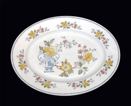 Royal Grafton HERITAGE Vase & Floral Large Oval Platter England Beautifu... - $49.99