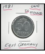 1981 East Germany(GDR): 50 Pfennig coin - $1.69