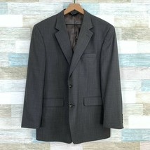 Jos A Bank Wool Sport Coat Jacket Gray Two Button Vent Mens Size 44R Reg... - $45.53