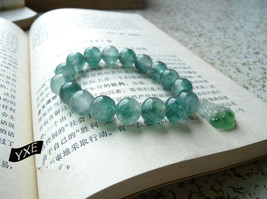 Free Shipping - 12MM Natural Green Jadeite Jade charm beaded jade beads ... - $25.99
