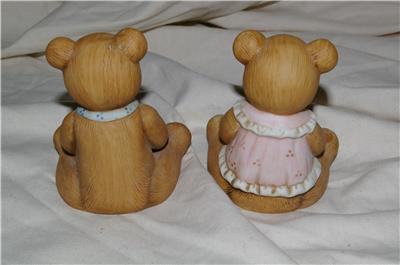 Homco Harvest Bear Pair Figurine 1405 Home Interiors
