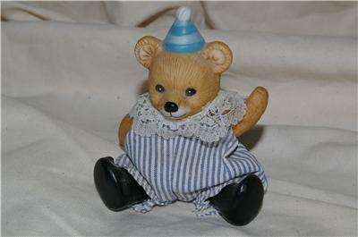 Homco Posible Clown Bear Figurine Home Interiors Unique