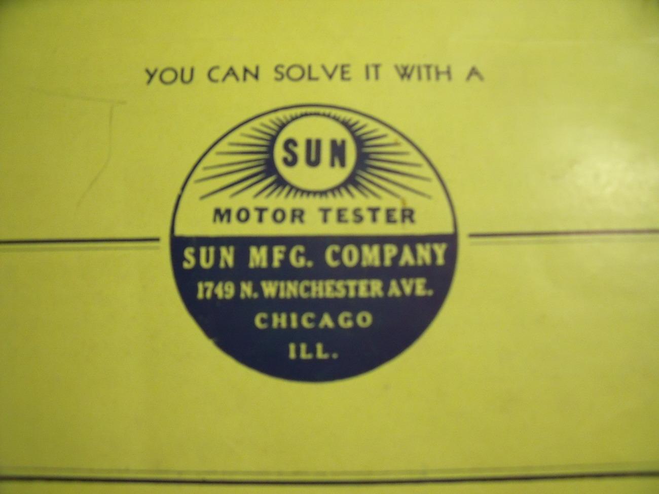 Original Sun Motor Tester Brochure